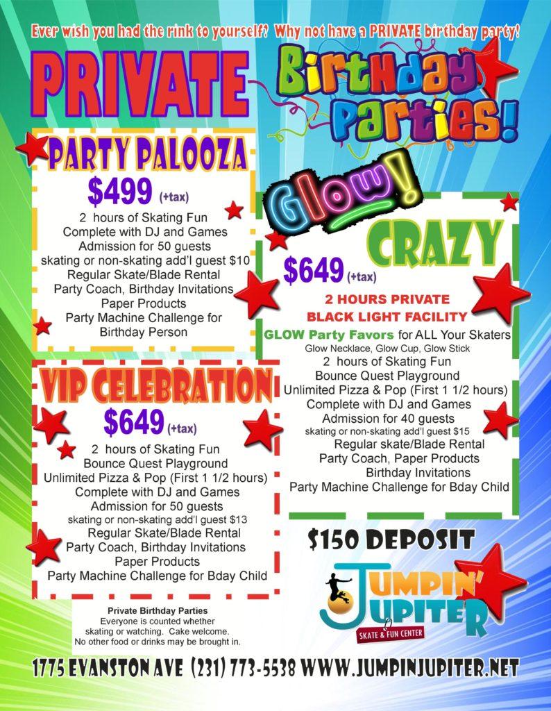 PRIVATE KIDS BIRTHDAY PARTY | Jumpin' Jupiter Skate & Fun Center